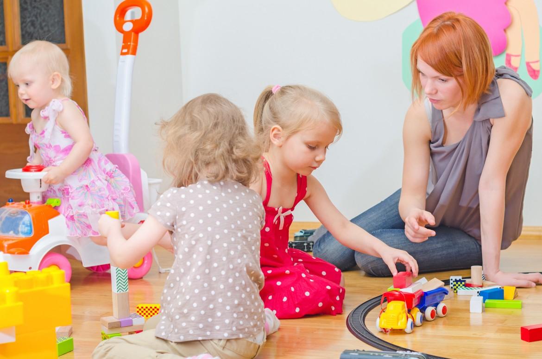 Children playing in nursery